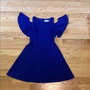 Eliza J. Blue Cold Shoulder Dress